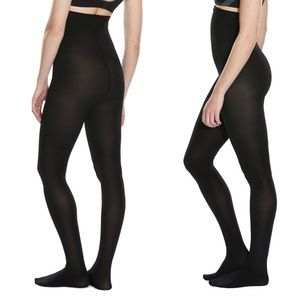SPANX Sarah Blakely black opaque high waist tights